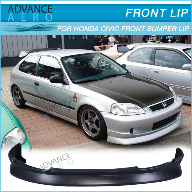 For 1999 2000 Honda civic EK 2/3/4 DOOR CS STYLE FRONT BUMPER & For 1999 2000 Honda Civic Ek 2/3/4 Door Cs Style Front Bumper Lip ... Pezcame.Com