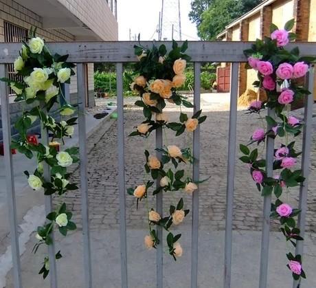 Bellas Enredaderas Decoracion Flor Artificial Para Decoracion De