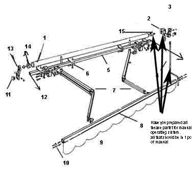 High Quality Retractable Awnings Parts (manual) - Buy ...