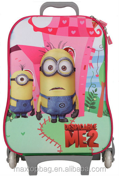 2015 Minions Kids School Bag Series Despicable Me Backpack Trolley ...