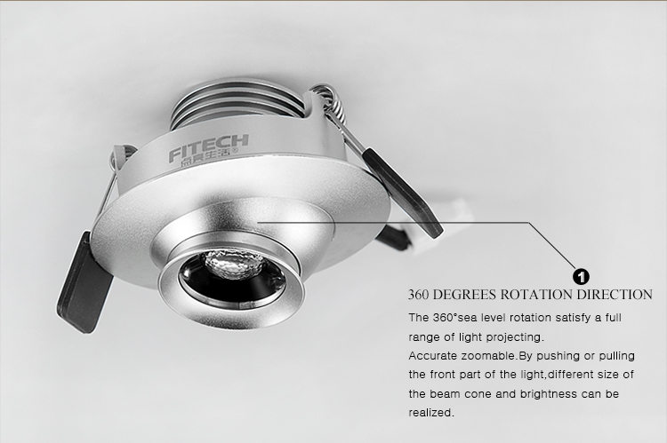 3w 24v Led Recessed Down Light Dimmable Focusable Eyeball Cabinet ...