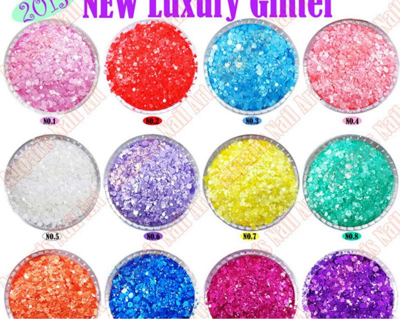 Mix Color Nail Art Laser Glitter Color Acrylic Powder Acryle Brand ...