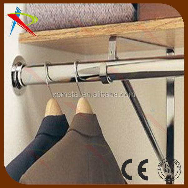 Custom Size Chrome Hanging Closet Rod