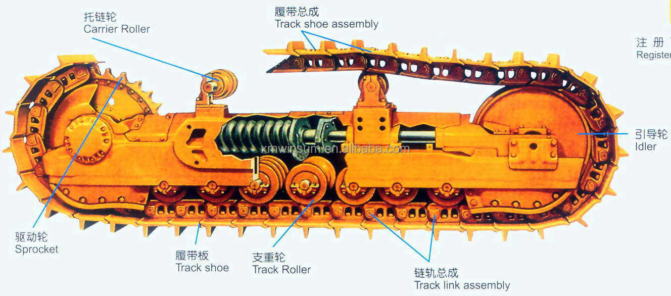D65 D68 D75 For Komatsu Genuine Dozer Undercarriage Parts ...