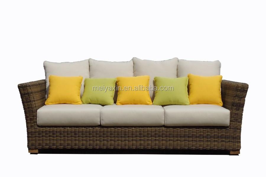 Outdoor Patio Furniture Wicker Furniture Set Indoor L Shaped ...