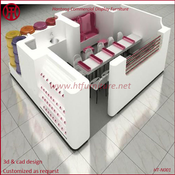 Mall Manicure Nail Bar Furniture For Made In China Kiosk