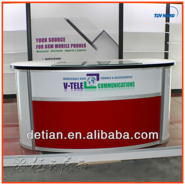Exhibition Stand Reception Desk : Lighting led counter tradshow stands design retail display stands