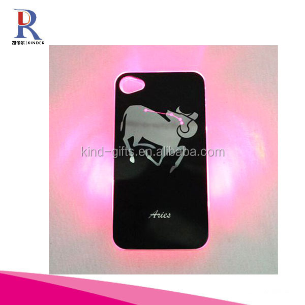 Flash Light LED Hard Case Cover 12 Constellation for iPhone 5