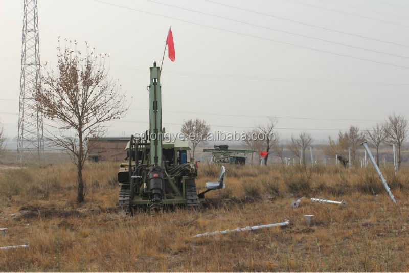 hydraulic auger drilling rig for photovoltaic solar spiral pile drilling manufacturer