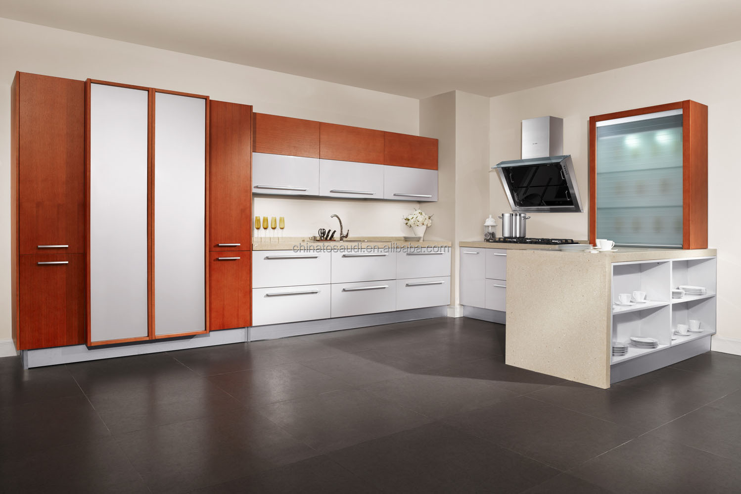 Colour Kitchen China Manufacture Shaker Door Design White Colour Kitchen Cabinet