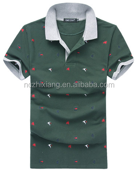 Polo T shirt White And Green Color Combination Polo T shirts