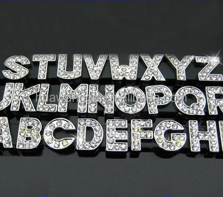 Original China factory free shipping by DHL 8mm 10mm diamond slide letter