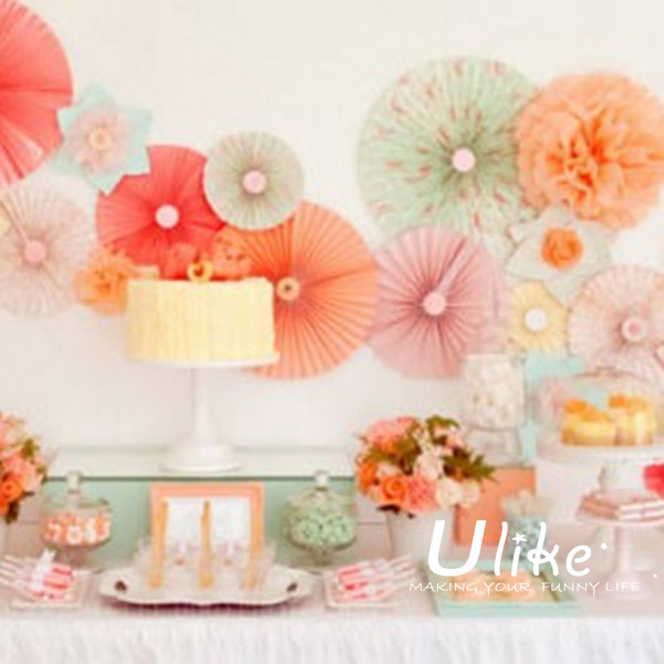 popur Starburst Fan-Assorted fan flowers for paper flowers wedding ...