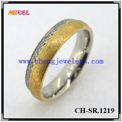 High Polished Fashion Cz Diamond Ring Clit Ring Jewelry