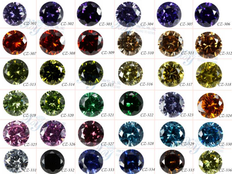 Xiang Yi Loose Gemstone Price List Beautiful Dark Amethyst Cz ...