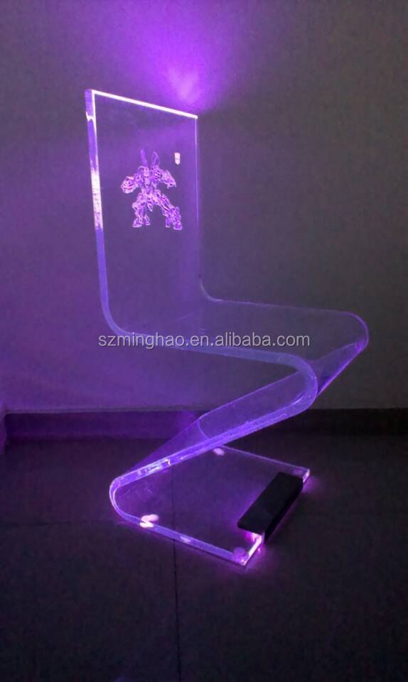 High Quality S Shape Clear Acrylic Table And Chairs / Clear Acrylic Lazy Chairs Part 23