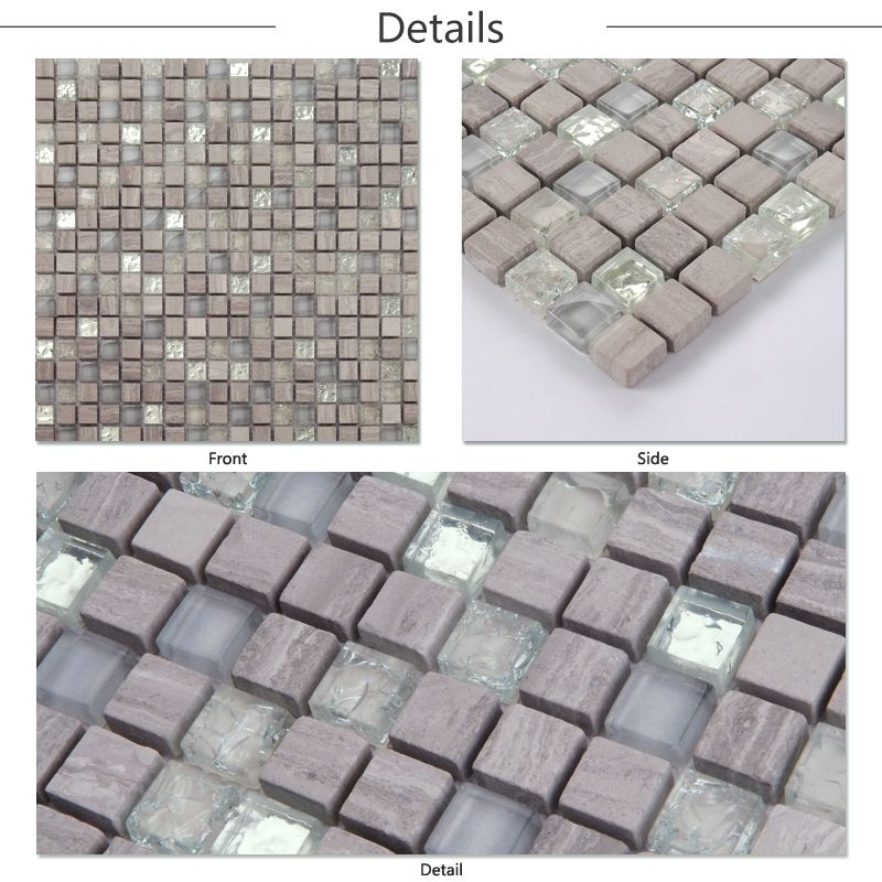 HF JTC 1315 New Style Design Wall Tile Glass Mix Stone Mosaic Tile Types Of