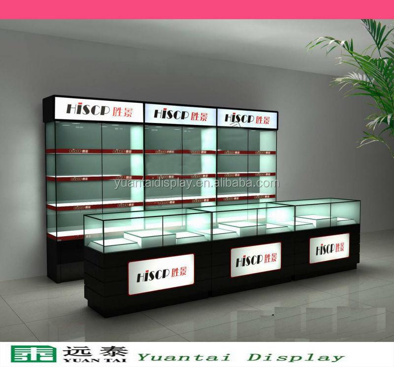 China manufacturer custom glasss shelf store mobile phone for Design shop mobel