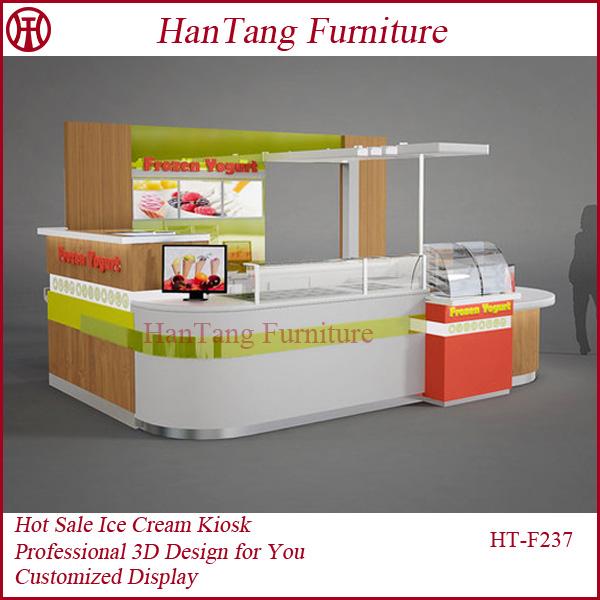 New design mall retail food indoor display kiosk for sale for Indoor food kiosk design