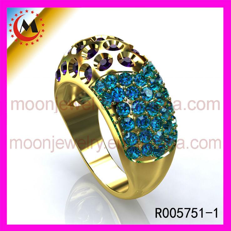 Justeel Jewellery Stainless Steel Ring Peacock Design Ring La s