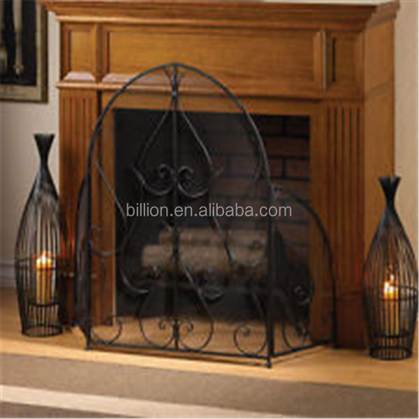 wrought iron hand forged fireplace screens - Wrought Iron Hand Forged Fireplace Screens - Buy Iron Fireplace
