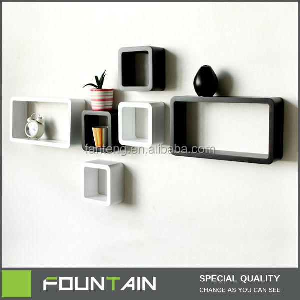 muebles de sala decoracin de la pared unidades negro blanco estantes pared colgante de pared