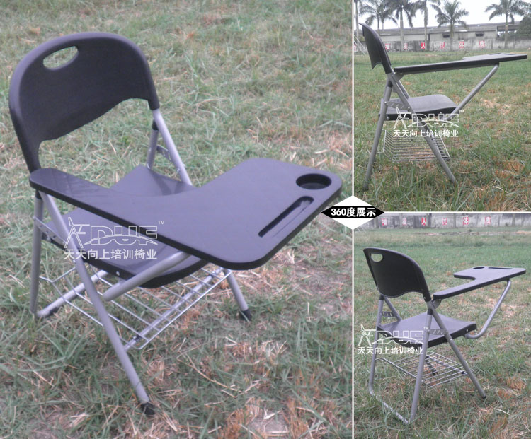 TH04-360-logo2.jpg & New Folding Writing Chair Of Student Big Tablet Arm Chair College ...