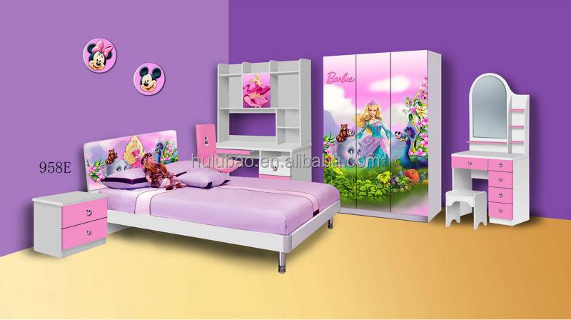 Carton Kid Furniture Modern Design Children Bedroom Furniture 958E