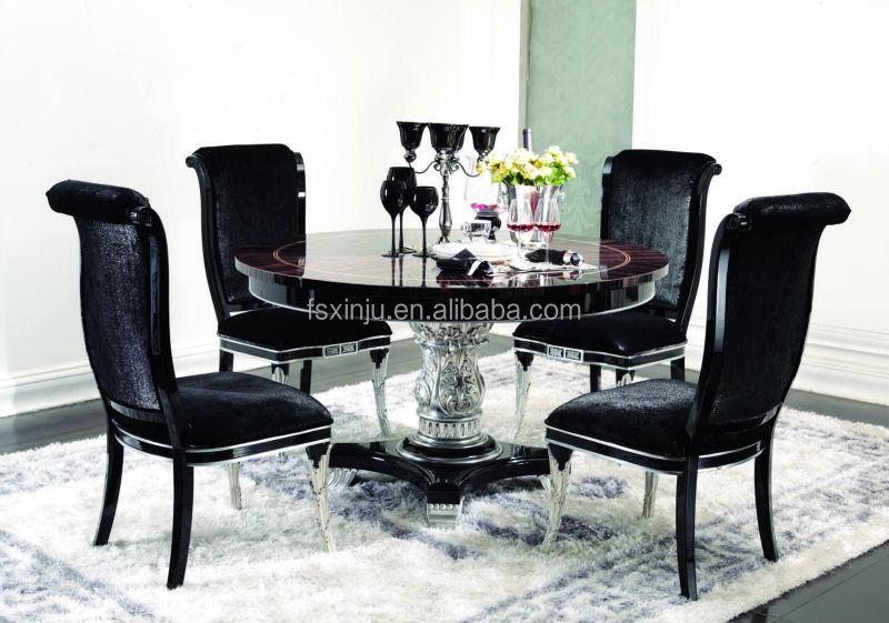 Redonda de madera mesa comedor/silla de comedor y reposteria ...