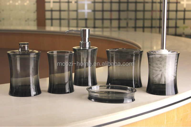 Best Selling Products Acrylic Plastic Bathroom Accessory Set