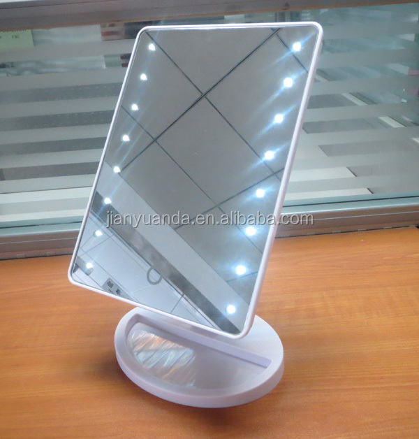 Beautiful Creative AA Battery LED Light Stand Detachable Makeup Mirror/ Table  Mirror/ Decorative Mirror