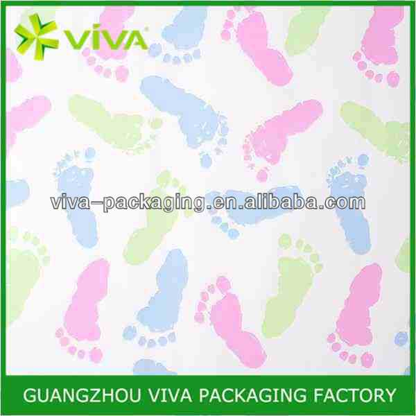 Baby Footprints Roll Gift Wrap Paper