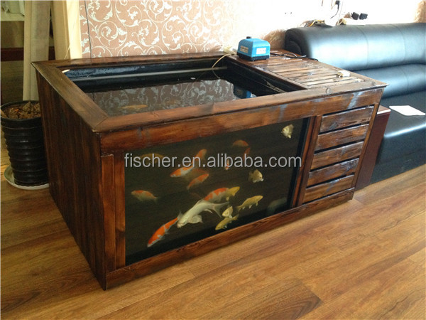 2014 new design aquarium wooden decorative fiberglass koi for Coy fish tank