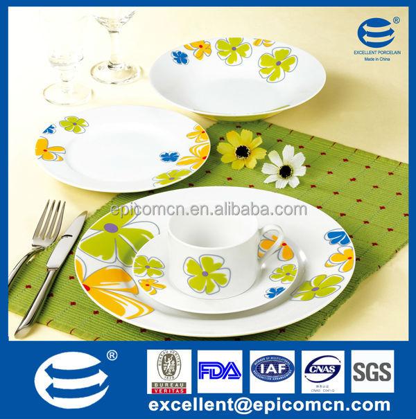 Clean Surface Porcelain Dinner Set,High Quality Dinnerware Set ...