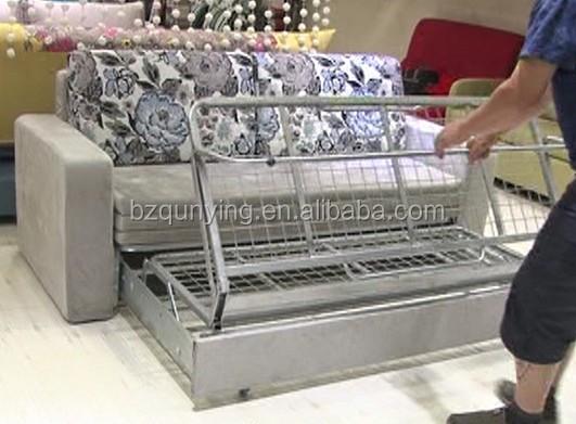 Adjule Steel Frame Wooden Slat Sofa Bed Mechanism