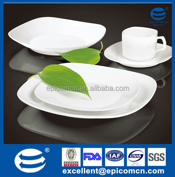 20pcs super white porcelain plain white dinnerware set square white ceramic serving dishes FOB shenzhen  sc 1 st  Alibaba : plain white dinnerware - pezcame.com