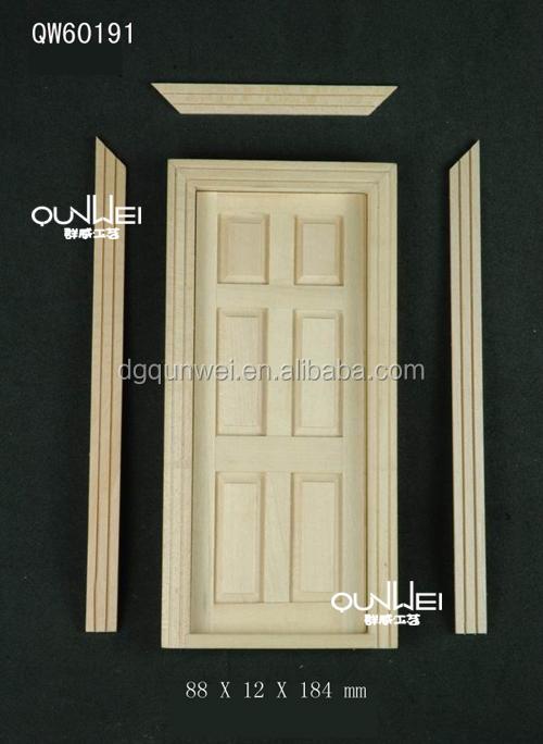 Dolls House Classic Wooden 6 Panel Interior Door Builders DIY 1:12 Accessory