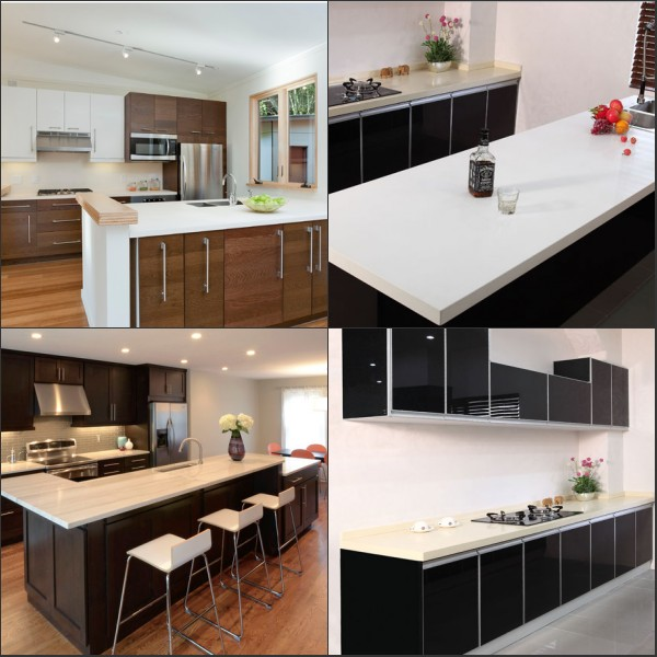 High Quality Easy Clean Sparkle Black Artificial Quartz Stone Floor TilesArtificial QuartzStone For Living