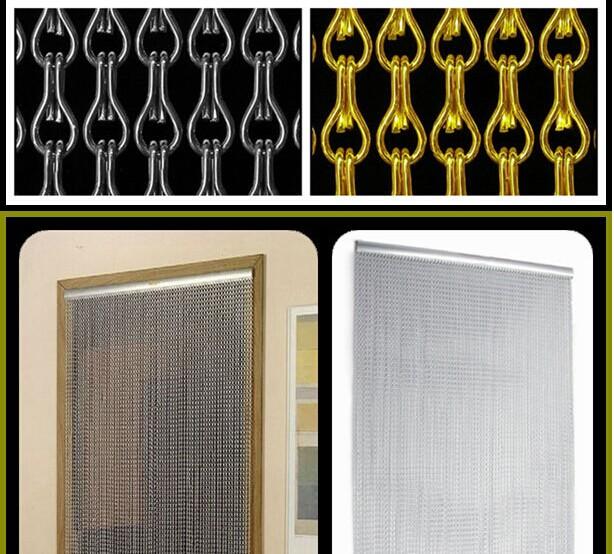 12mm Diy Metal Drapery Aluminium Chain Curtain