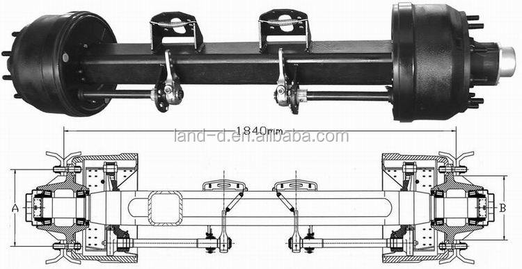 Heavy Truck Axles : Factory european type air brake heavy duty square outboard