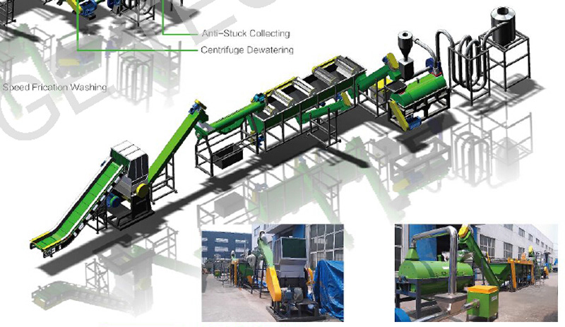 High Quality Waste Plastic Hdpe Bottle Recycling Plant