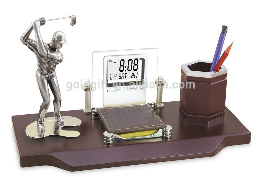 Golf Gifts Desktop With Calendar Pen For Office Gifts