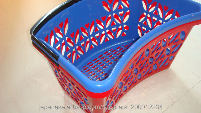 New style plastic shopping basket Handle plastic shopping basket