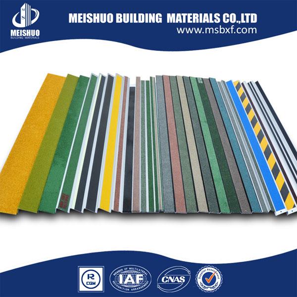carborundum nosing. carborundum insert anti slip stair nosing/concrete tread trim with strip ( nosing