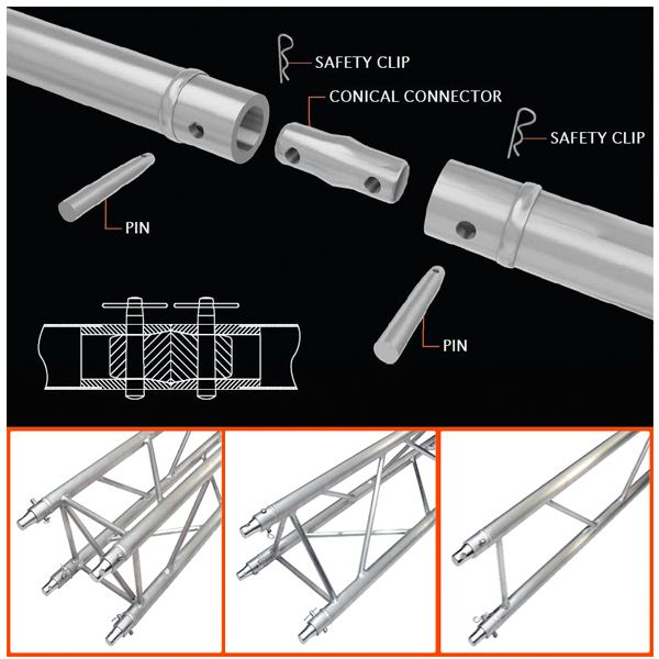 Aluminum stage truss roof truss circle roof truss systems for Buy truss