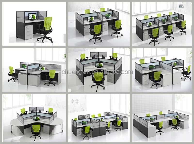 Modular cheap small computer glass call center modern for Center table design for office