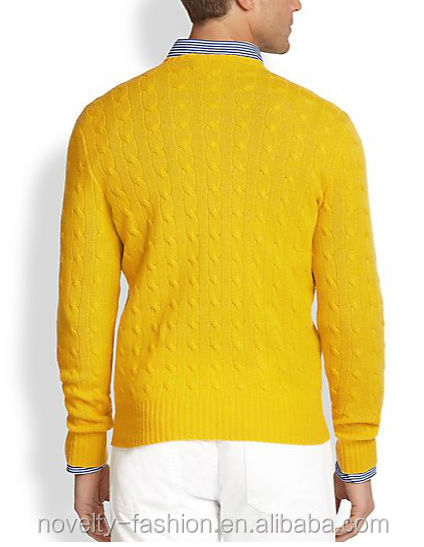 Mens Yellow Crew Nek Cable Knit Sweater Buy Cable Knit Sweater Men Button Front Cardigan Multi Color Stripe Cardigan Product On Alibaba Com