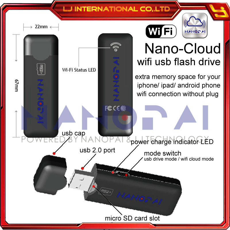 wifi usb flash drive cloud storage wireless usb drive for. Black Bedroom Furniture Sets. Home Design Ideas