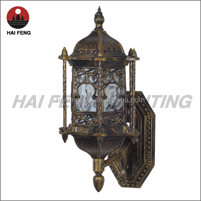 Vintage Exterior Wall Lamp Brass Outdoor Wall Light