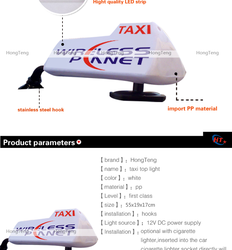 New City Advertising Led Taxi Head Lamp